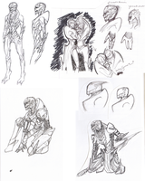 Female Turian Sketches... Mostly by pic-char