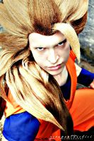 Son Goku Ssj3, the power of Super Saiyajin! by Alexcloudsquall