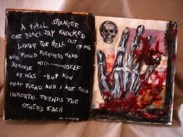 A Total Stranger: Altered Book by hever