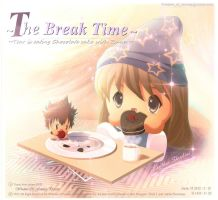 Tear is Eating Choco Cake in Break time by Kauthar-Sharbini