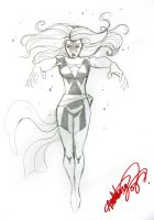 dark phoenix sketch by deemonproductions