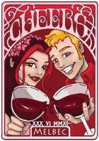 Red Wine Label by LeelaB