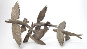 'TAKE WING' Bronze fying fish by bronze4u