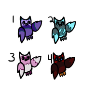 Free Owl Adoptables 5 -closed- by RRadopts