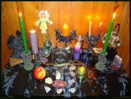 Magic Raven Earth Day Altar 2013 - 2 by Wilhelmine