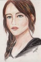 Jennifer Lawrence as Katniss by La-Chapeliere-Folle