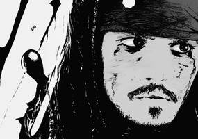 Captain Jack Sparrow by B-TURKS