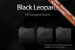 Black Leopard Icon Set UPDATE by DecompositionBeauty