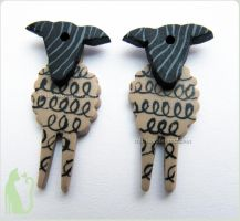 Sheep earrings by Talty