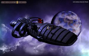 Raumschiff Highlander Beautyshot - Wallpaper by Joran-Belar
