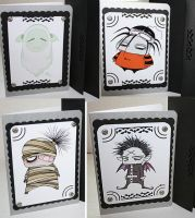Chibi Freek Halloween Cards by Tavicat