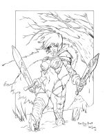 Warrior Girl Inks by devgear