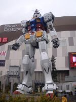 Gundam statue in Odaiba by plainordinary1