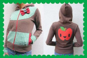 OOAK Happy Apple Hoodie by 231705