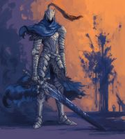 Knight Artorias by aureolin24
