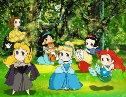 Disney Garden Princesses by VanillaKeyblade