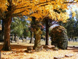 Autumn Cemetery 20 by DKD-Stock