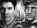 Merlin and The Doctor United WIP by SnappleArt