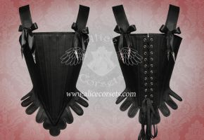 Gothic Rococo Corset ~ Overbust Period Stay by Alice-Corsets