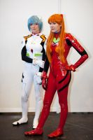 Evangelion 2.0 - Asuka and Rei by Sweet-Empathy