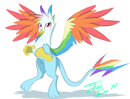 Rainbow Dash Griffon by FarewellDecency