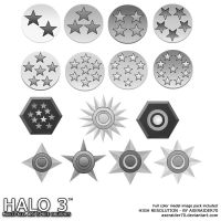 Halo 3 Medals - PS7 by kabocha