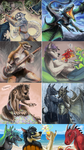 Commissions. 1hour speedpaints by ZombieGnu