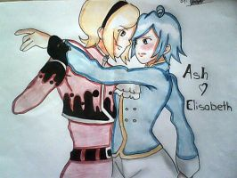 ASH AND ELISABETH by x-Sneering-Blaze-x
