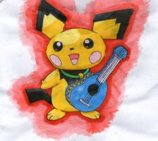 Ukulele Pichu by twilightlinkjh