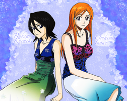 Rukia and Orihime by ColetteRose