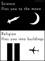 Science vs religion by DailyAtheist