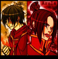 Zuko and Azula by some1ders13