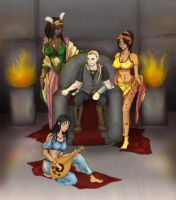 Harald and his Maidens by MelanieLC