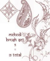 redLillith Mehndi set 5 by rL-Brushes