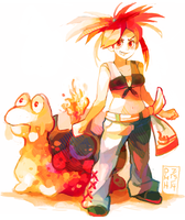 Gym Leader Flannery by LadyKuki