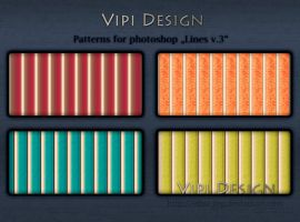 Patterns for photoshop - Lines v.3 by elixa-geg