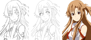 Asuna (Stages drawn) by Jimbobads