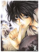 DeathNote: L :colored: by Giname