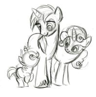 Unicorn Family by fyre-flye