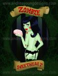 Zombie Sweetheart by sexyillustrator