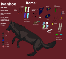 Ivanhoe Ref sheet by PawesomeSauce