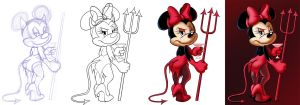 Minnie Devil Progress by ChadRocco