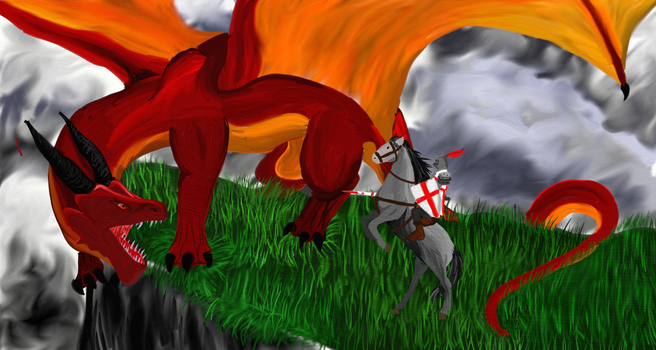 St. George and the Dragon by DragonOfYore