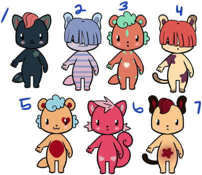 Adopts! [OPEN] by ashestothewind
