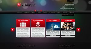 veribank web app design by karmooz