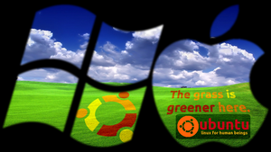 Ubuntu Greener Grass by powerofpi
