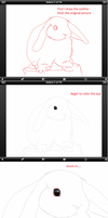 The Making of Rabbit: iPad drawing by shiori2525