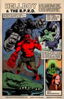 TLIID 304. Hellboy and the BPRD in the Golden Age by AxelMedellin