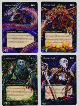Animate Dead 3-4 - MTG Alter by seesic