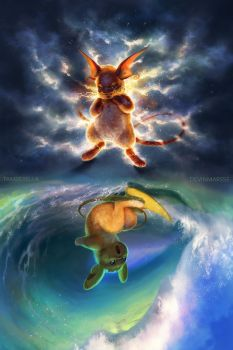 Raichu Mirrored by TamberElla